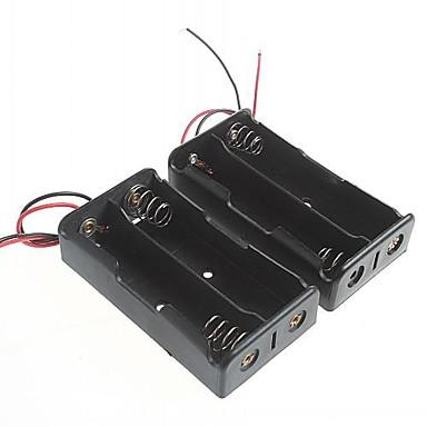 batterikassen for 18650 batterier (2stk)