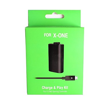 Rechargeable Battery Pack with USB to DC Charging Cable for Microsoft Xbox One Wireless Controller