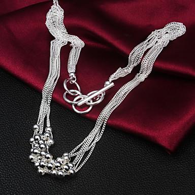 Niedlich Sterling Silber Silber Statement Ketten  -  Retro Party Büro Silber Modische Halsketten Für