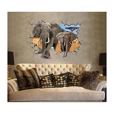 3d falimatrica fali matricák, stílus elefánt mosható PVC fal matrica