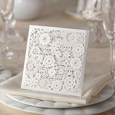 Ikke-personaliseret Fladt Kort Wedding Invitationer Takkekort-50 Stykke/Sæt Formel Stil / Sommerfugl Stil Kort Papir6*6 tommer (ca.