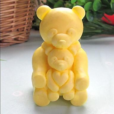 bære dyr hjerteformet  kake sjokolade silikon Form kake dekorasjon verktøy, l8.5cm * b6.2cm * h4.8cm