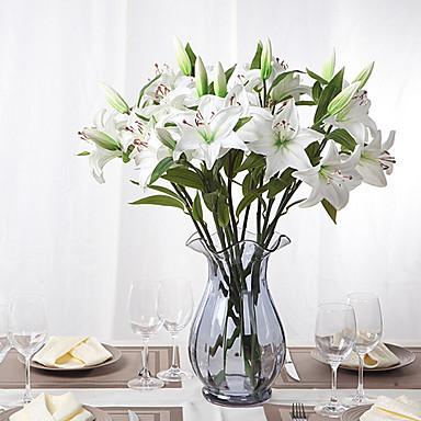 şube PU Lilies Masaüstü Çiçeği Yapay Çiçekler