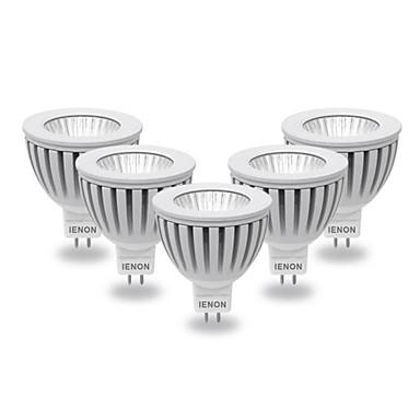 GU5.3(MR16) Spot LED MR16 COB 400-450 lm Blanc Chaud Blanc Froid AC 12 V 5 pièces
