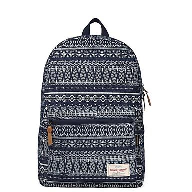 Unisex Väskor Kanvas Nylon ryggsäck för Casual Sport Alla årstider Mörkblå Blå Ljusblå Marinblå