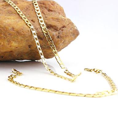 Damen Zirkon Schmuck-Set Halsketten / Armband - Golden Schmuckset Für Hochzeit / Party / Alltag