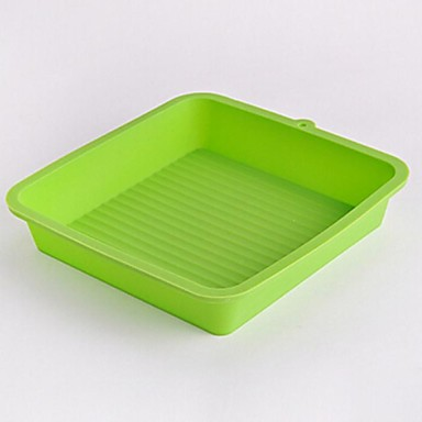 Square Shape Cake Molds,Silicone 20.5×20×4 CM(8.1×7.9×1.6 INCH)
