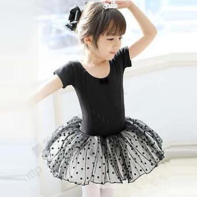 Bale Elbiseler Çocuklar için Eğitim Pamuklu Kısa Kol Doğal Prenses