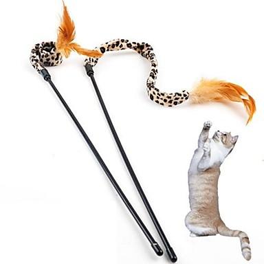 Cat Teasers Leopard Textile For Cat / Kitten
