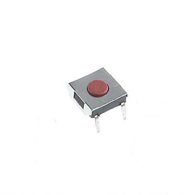 4-pins tact schakelaar tactiele drukknop schakelt diy 6x6x2.5mm (20st)