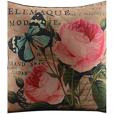 1 pcs Cotton/Linen Pillow Cover,Floral Country