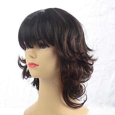 Synthetische Perücken Synthetische Haare Braun Perücke Alltag