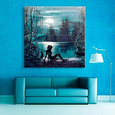E-home® ay göl flaş etkisi fiber optik baskı yanıp led tuval baskı sanatını gergin