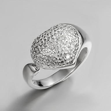 Dames Bandring Kristal Zilver Sterling zilver Zirkonia Zilver Tupsu Vintage Schattig Feest Werk Informeel Modieus Bruiloft Feest