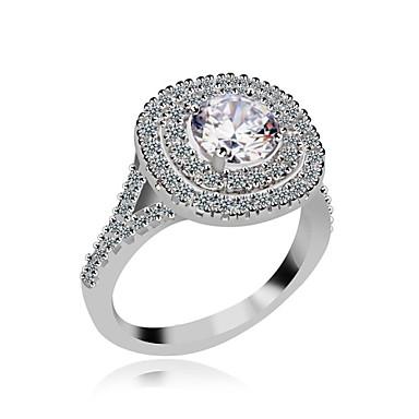Ring - Stylish 6 / 7 / 8 White For Wedding / Party / Evening
