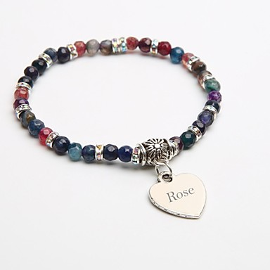 персональный подарок натуральный камень браслет кристалл прядь браслеты турмалин черный для детей
