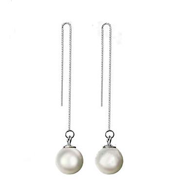 Femme Boucles d'oreille goutte bijoux de fantaisie Perle Argent sterling Bijoux Pour
