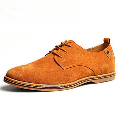 Men's Shoes Suede Spring Fall Comfort Oxfords Navy Black Brown Green Khaki