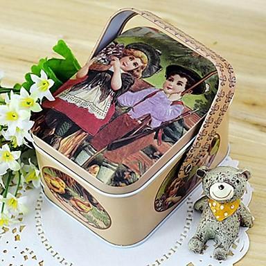 1 Τεμάχια/Σετ Εύνοια Κάτοχος-Cuboid Σίδερο (επινικελωμένο) Τενεκεδάκια και Κάδοι Μποπονιέρων Κουτιά Δώρων