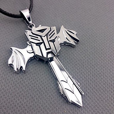 Transformers Cross Alloy Cosplay Necklace