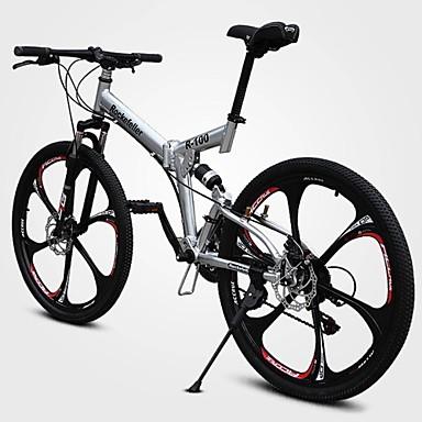 Geländerad Radsport 21 Geschwindigkeit 26 Zoll/700CC Doppelte Scheibenbremsen Federgabel Vollfederung gewöhnlich Aluminiumlegierung