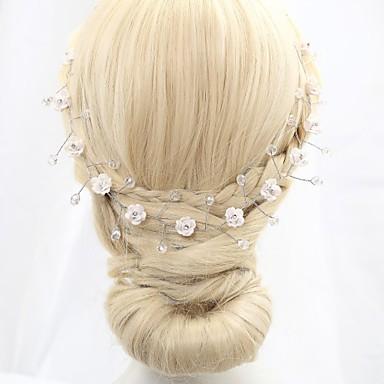 Γυναικείο Κορίτσι Λουλουδιών Headpiece-Γάμος Ειδική Περίσταση Κεφαλόδεσμοι Λουλούδια Αλυσίδα για το Κεφάλι Coroane