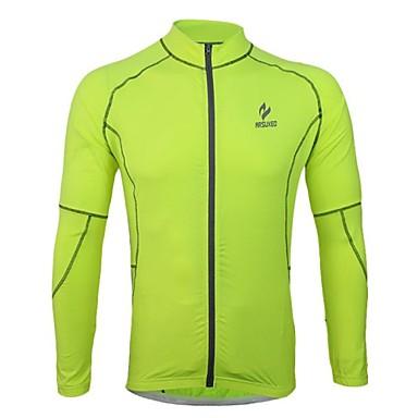Arsuxeo Erkek Uzun Kollu Bisiklet Forması - Açık Mavi / Açık Yeşil Bisiklet Forma, Hızlı Kuruma, Anatomik Tasarım, Nefes Alabilir