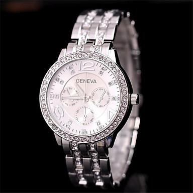 Damen Armbanduhr Imitation Diamant Edelstahl Band Charme / Freizeit Schwarz