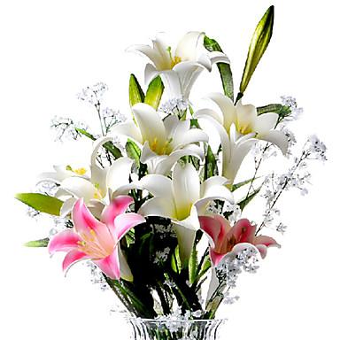 1 Ág PU Liliom Asztali virág Művirágok