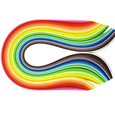 400pcs 1cmx53cm Quilling hârtie (buc x10 40 culori / culoare) ambarcațiunile DIY decorare artă