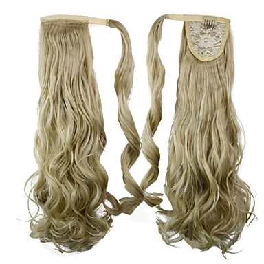 Κλασσικό Κυματιστό Αλογορουρές Υψηλή ποιότητα Συνθετικός Κομμάτι μαλλιών Hair Extension Καθημερινά