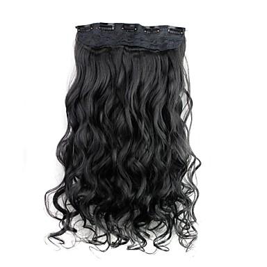 Krøllet Klassisk Syntetisk hår 22 tommer (ca. 56cm) Hår extension Klipp I / På Dame Daglig