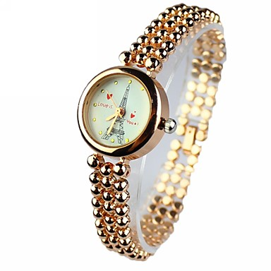 Dames Modieus horloge Kwarts Legering Band Eiffeltoren Goud