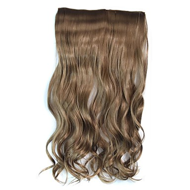 Clip Wave Hairpiece Synthetic Extension (Light Brown)
