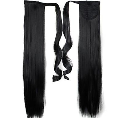Gerade Pferdeschwanz Kunststoff Haarstück Haar-Verlängerung