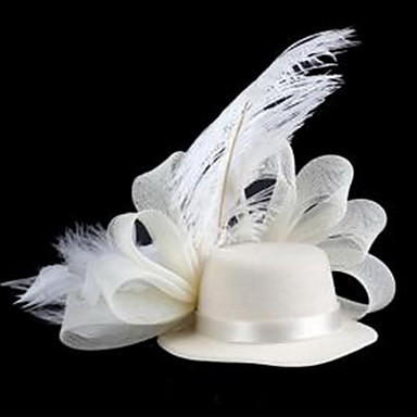 хет-образную форму с пером сетки шпильки белый (1шт)