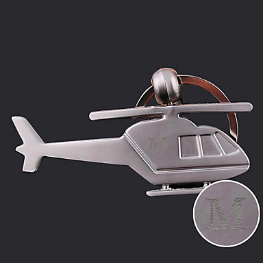 Individuelle Gravur Geschenk Kreative Hubschrauber geformt Schlüsselbund