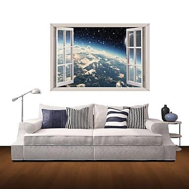 풍경 추상 벽 스티커 3D 월 스티커 데코레이티브 월 스티커 자료 이동가능 홈 장식 벽 데칼