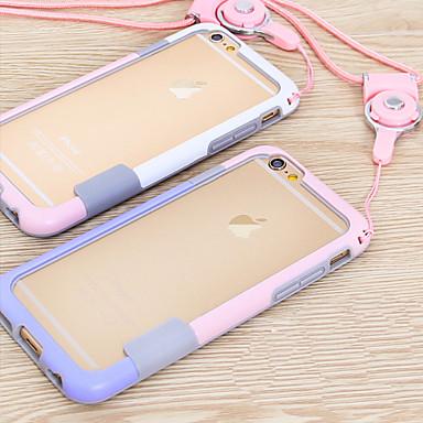 Pouzdro Uyumluluk Apple iPhone 6 iPhone 6 Plus Other Tampon Tek Renk Yumuşak TPU için iPhone 6s Plus iPhone 6s iPhone 6 Plus iPhone 6