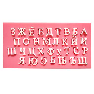 rosyjski alfabet ciasto czekoladowe fondant formy formy do pieczenia w kuchni dla cukru kandyzowanego
