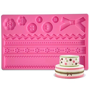 FOUR-C Silicone Mat Button Fondant And Gumpaste Mould,Cake Supplies Fondant Mat Sugar Paste Mat Cake Tools