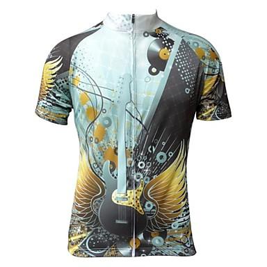 JESOCYCLING Велокофты Муж. Короткие рукава Велоспорт Джерси Верхняя часть Быстровысыхающий Ультрафиолетовая устойчивость Дышащий100%