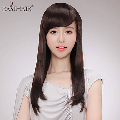 Capless Long Straight  Human Hair Wigs