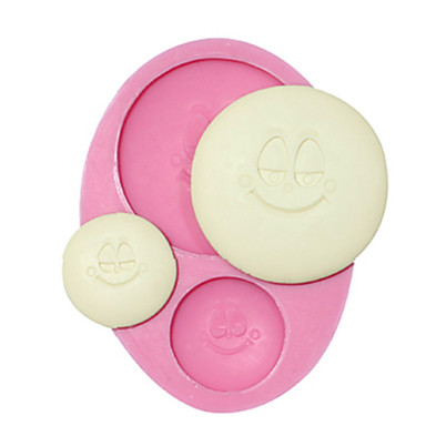 décoration de gâteau moule touches moule sourire de silicone pour l'artisanat fondant de chocolat bonbons bijoux argile de résine de PMC