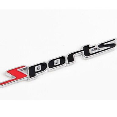 Autoaufkleber für die Metallbuchstaben Sport