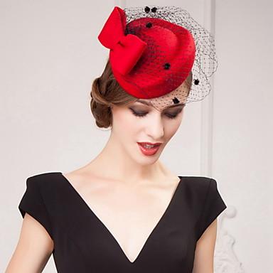 billige Hodeplagg til fest-tulle satinhatter headpiece bryllupsfesten elegant feminin stil