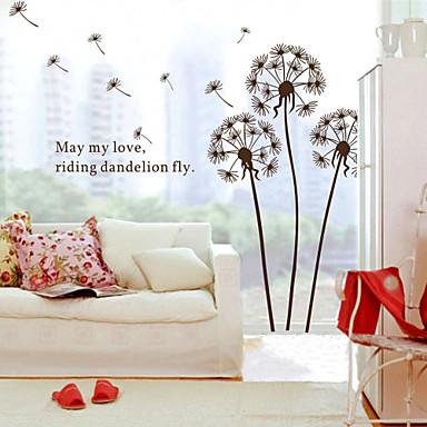 Tegneserie Botanisk Veggklistremerker Fly vægklistermærker Dekorative Mur Klistermærker, Vinyl Hjem Dekor Veggoverføringsbilde Vegg