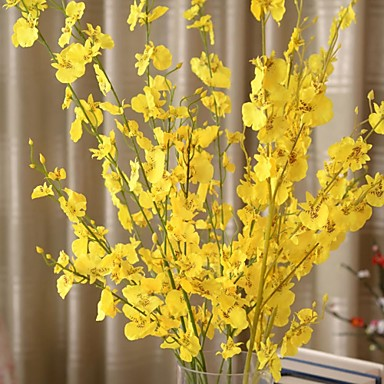 1 Филиал Шелк Пластик Орхидеи Букеты на стол Искусственные Цветы