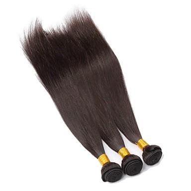 Brezilyalı bakire saç doğal renk insan saç uzatma düz saç 18inch 3adet