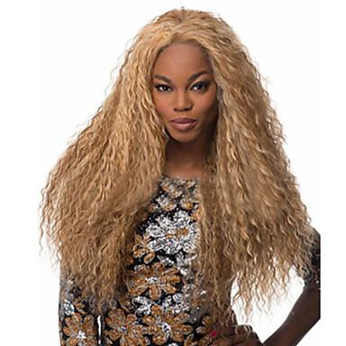 Synthetische Perücken Locken / Kinky Curly / Lose gewellt Blond Mittelteil Synthetische Haare 20 Zoll Modisches Design / Cosplay Blond Perücke Damen Lang Maschinell gefertigt Hellblond